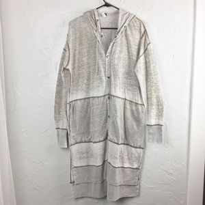 Free People Snap Front Duster Cardigan Jacket-S